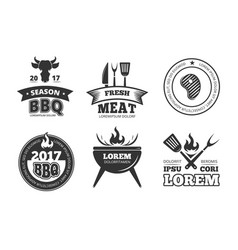 barbecue grill bbq steak house restaurant vector image