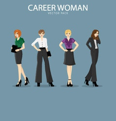 Four smart and fashionable career woman vector image