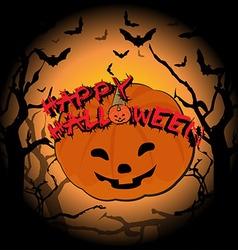 Happy Halloween and pumpkin vector image vector image