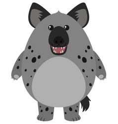 hyena with round body vector image