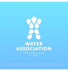 Water Man Logo vector image