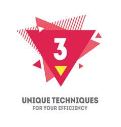 3 unique techniques for your efficiency cover vector image