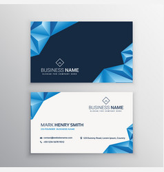 Abstract 3d triangles business card vector