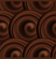 abstract background pattern with chocolate wavy vector image