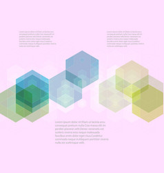 abstract background with hexagons colorful flow vector image