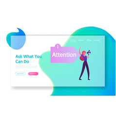Aida business marketing model website landing page vector
