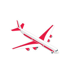 Airliner isometric icon vector