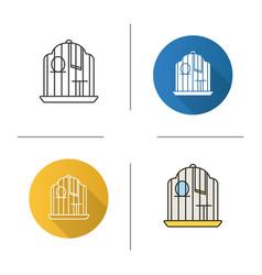 Birdcage icon vector