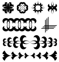 Black design tattoo elements vector