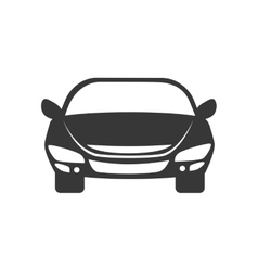 Car front automobile auto vehicle icon vector