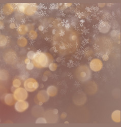 christmas and new year abstract golden holiday vector image