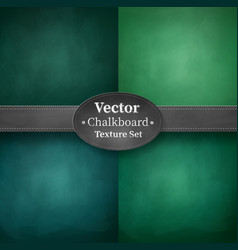 collection green colored school chalkboards vector image
