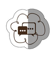 Color cloud chat bubbles icons sercive vector