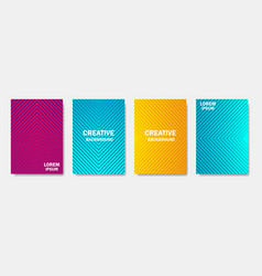 colorful creative halftone lines cover page vector image