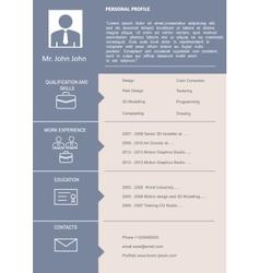 CV Curriculum Vitae Template vector