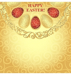 Easter golden frame vector image