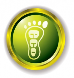 eco foot icon vector image