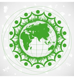Ecological planet vector image