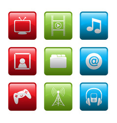 electronic entertainment icons vector image