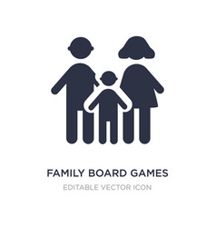 Family board games icon on white background vector