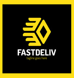 fast delivery logo vector image