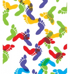 feet background vector image vector image