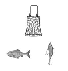 Fish and fishing logo set vector