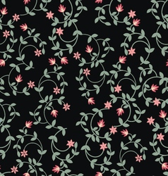 Floral romantic seamless pattern vector