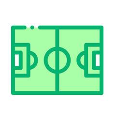 football field icon outline vector image
