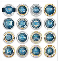 Gold and silver sale labels luxury collection 2 vector