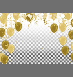 gold confetti celebration isolated on brown vector image