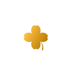 Golden 4 leaf clover vector