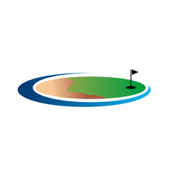 golf land logo vector image