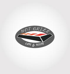 Grill logo design food icon vector