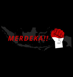 hand gesture patriotic indonesia independence day vector image