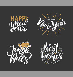 happy new year jingle bells and best wishes cards vector image