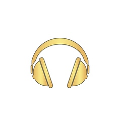 headphone computer symbol vector image