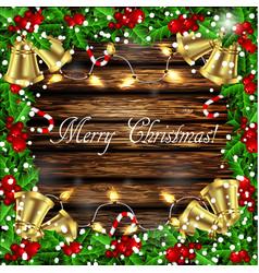 holly christmas frame vector image