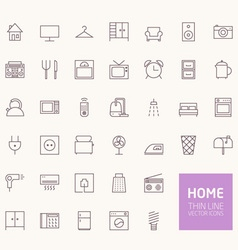 Household Outline Icons for web and mobile apps vector image
