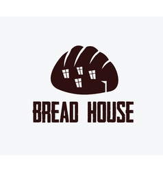 ilustration of bread house vector image