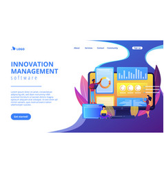 Innovation management software concept landing vector