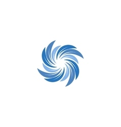 Isolated abstract blue color spining spiral logo vector