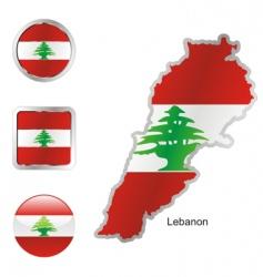 lebanon vector image