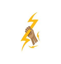 Lightning logo template vector