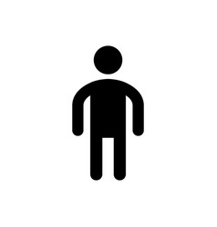 Man glyph icon and male symbol vector