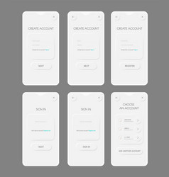 modern trendy smoothy mobile app ui sign in and vector image
