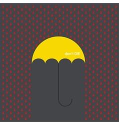 modern umbrella with drops vector image