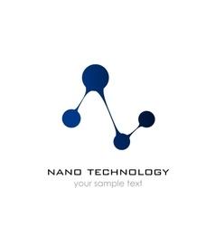 Nano logo - nanotechnology Template design of vector