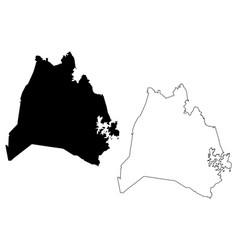 Nashville city map vector