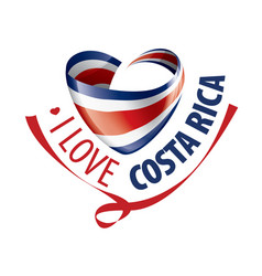 National flag costa rica in shape a vector